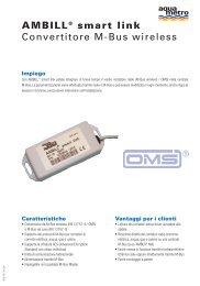 AMBILL® smart link Convertitore M-Bus wireless - Aquametro AG