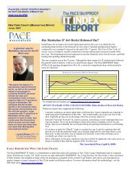 Has Manhattan IT Job Market Bottomed Out? - pace university