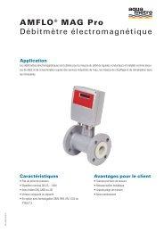 AMFLO® MAG Pro Débitmètre électromagnétique - Aquametro AG