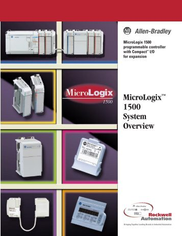 1764-SO001A-US-P, MicroLogix 1500 System Overview