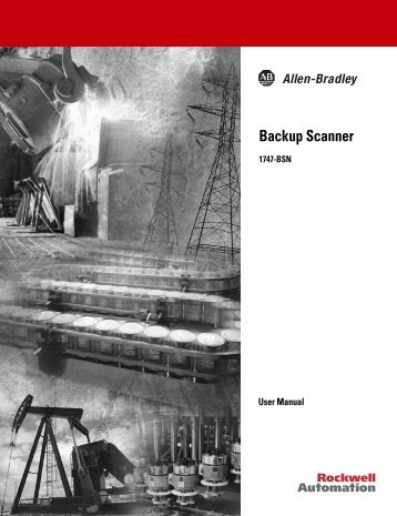 1747-6.22, Backup Scanner User Manual