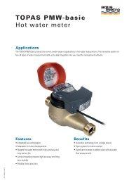 TOPAS Pmw-basic Hot water meter - Aquametro AG