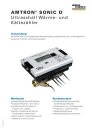 AMTRON® SONIC D Ultraschall Wärme- und ... - Aquametro AG