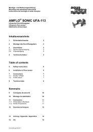 AMFLO SONIC UFA-113 - Aquametro AG