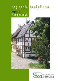 Regionale Baukulturen - Ausgabe 1 Renovieren
