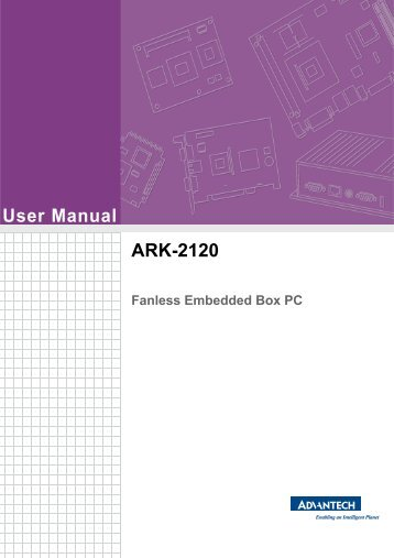 User Manual ARK-2120