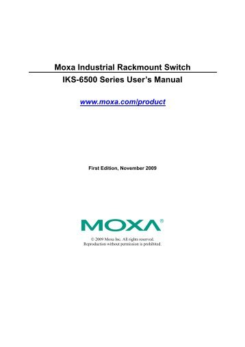 IKS-6500 Series User's Manual v1 - Moxa