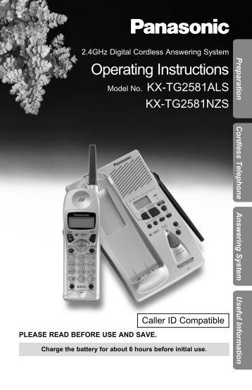 Operating Instructions - Panasonic New Zealand Support Site