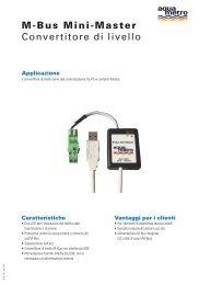 M-Bus Mini-Master Convertitore di livello - Aquametro AG