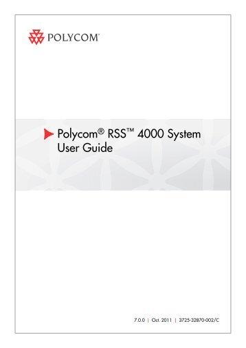 user guide for polycom rss 4000 system version 8 0 rh yumpu com Polycom VVX 400 Polycom Conference Phone