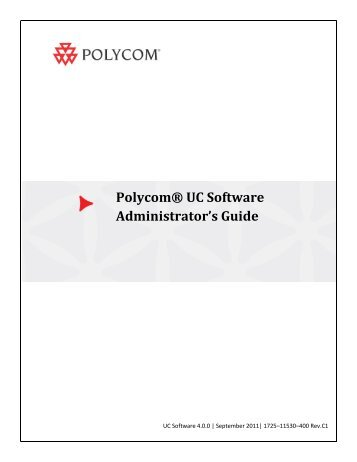 Polycom UC Software Administrators' Guide
