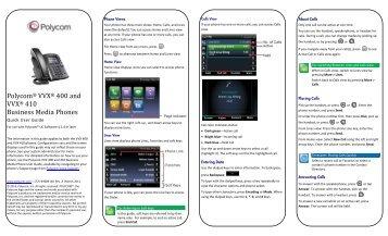 kirk 70 handset series quick guide pcs12ta or newer polycom rh yumpu com Meridian Phone Manual polycom telephone manuel