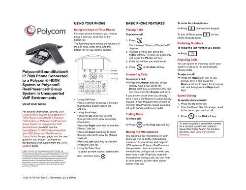 Polycom vvx 300 and 310 user guide.