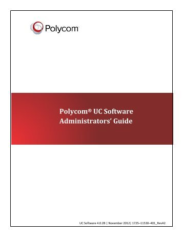 Polycom UC Software 4.0.1 Administrators' Guide