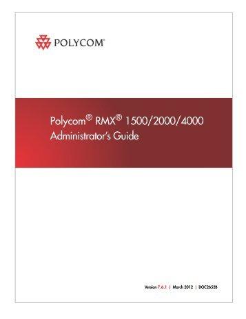 rmx 2000 hardware guide polycom rh yumpu com  polycom rss 4000 admin guide
