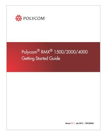 rmx 2000 hardware guide polycom rh yumpu com Polycom Conference Phone Polycom Products