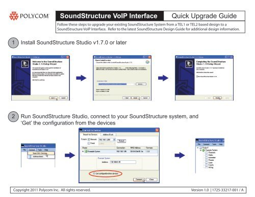 SoundStructure VoIP Interface Quick Upgrade Guide - Polycom