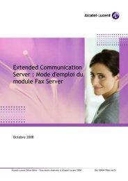 Guide utilisateur FAX serveur - Alcatel-Lucent Eye-box Support