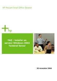 Installer un serveur Windows 2003 Terminal Server