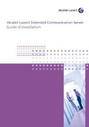Guide d'installation - Alcatel-Lucent Eye-box Support
