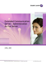 Guide Administrateur FAX serveur - Alcatel-Lucent Eye-box Support
