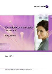 FAQ End-User - Alcatel-Lucent Eye-box Support