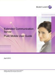 Push mobile user guide - Alcatel-Lucent Eye-box Support
