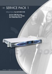 SERVICE PACK 1 - Alcatel-Lucent Eye-box Support