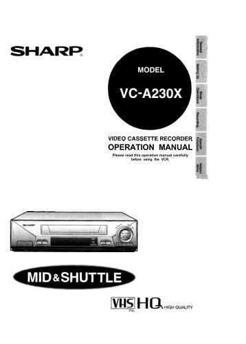 operation manual contents sharp australia support rh yumpu com Sharp ManualsOnline Sharp Compet QS-2760H