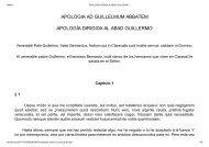 APOLOGIA AD GUILLELMUM ABBATEM APOLOGÍA DIRIGIDA AL ABAD GUILLERMO