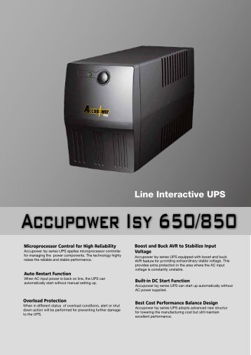 Accupower Isy 650/850