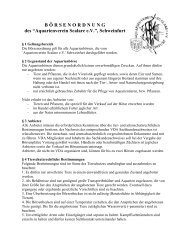 B Ö RSENORDNUNG des - Aquarienverein Scalare Schweinfurt