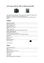 APC Smart-UPS XL 750VA USB & Serial 230V Output Input