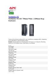NetShelter SX NetShelter SX 42U 750mm Wide x 1200mm Deep ...