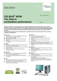 CELSIUS W350 The Gate to workstation performance