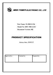 Switching Power Supply Specifications