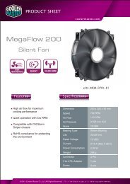MegaFlow 200 Silent Fan Product Sheet-page1