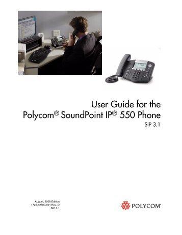 soundpoint ip 600 sip 1 4 user guide polycom rh yumpu com polycom soundpoint ip 550 user guide polycom ip 550 user guide