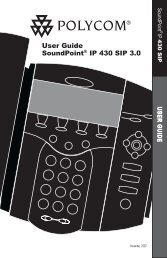 SoundPoint IP 430 User Guide SIP 3.0 - Polycom Support