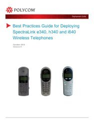 Best Practices Guide for Deploying SpectraLink ... - Polycom Support