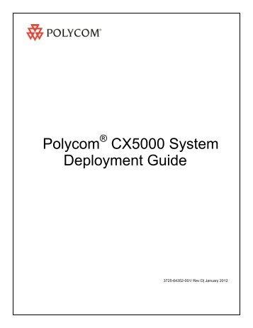 polycom cx5000 setup guide pdf rh yumpu com Polycom CX5000 Manual Polycom CX5000 Lync 2013
