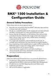RMX 1500 Quick Installation Booklet1 V7.fm - Polycom Support