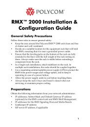 RMX 2000 Installation & Configuration Guide - Polycom Support
