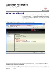 Activating and Upgrading DMA licenses - Polycom Support