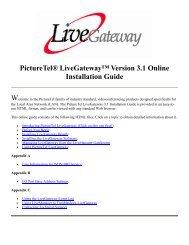 PictureTel LiveGateway Version 3.1 Online ... - Polycom Support