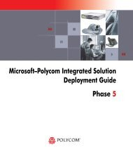 Microsoft-Polycom Integrated Solution ... - Polycom Support