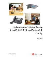 Administrator's Guide SoundPoint IP ... - Polycom Support