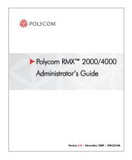 RMX 2000 Administrator's Guide - Polycom Support