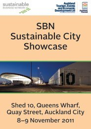 SBN Sustainable City Showcase - Sustainable Business Network