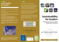 Sustainability for leaders - Sustainable Business Network